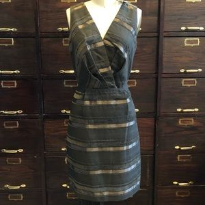 Max & Cleo Brown Textured Fabric Dress - 4